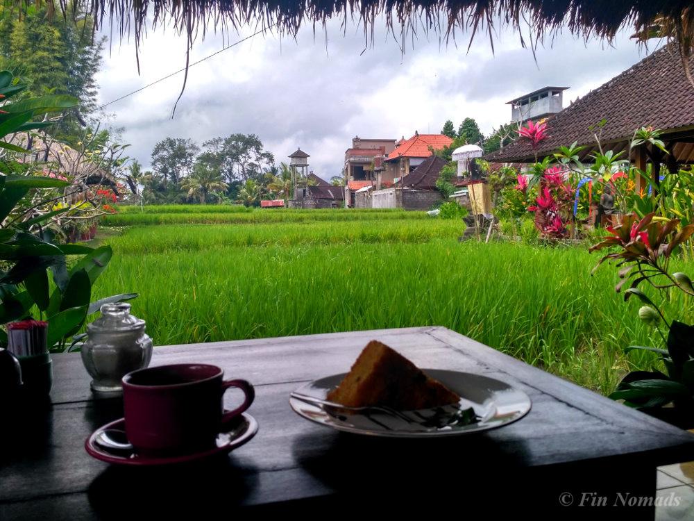 Ubud rice field cafe