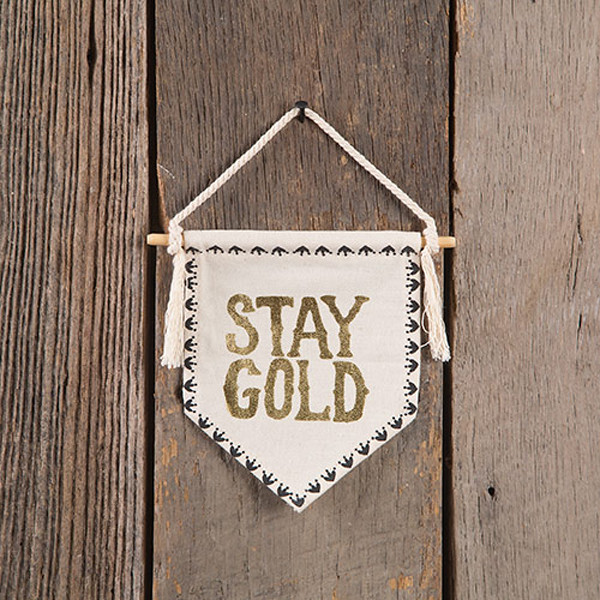 Canvas Banner S Stay Goldwhg031 Designer Natural Life Taiwan