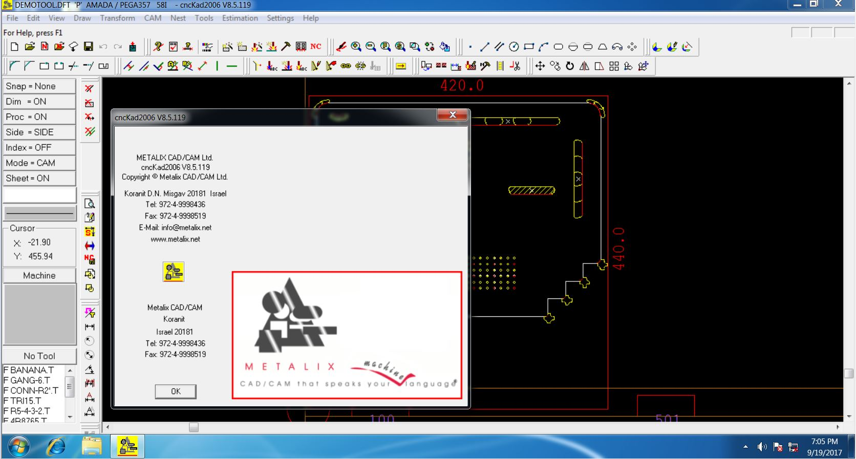 Working with CNCKAD 8.5 FULL LICENSE