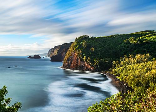 pololuvalleylookout cliffs bigisland hawaii longexposure ocean scenic pololūvalley trail