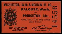 Washington, Idaho & Montana Railway, Destination Princeton, Idaho - Palouse, Washington