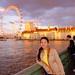 Wenji on Westminster Bridge at Sunset