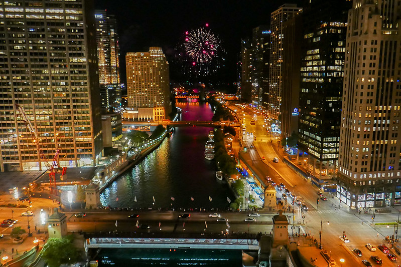 Navy Pier Fireworks from The Terrace at Trump