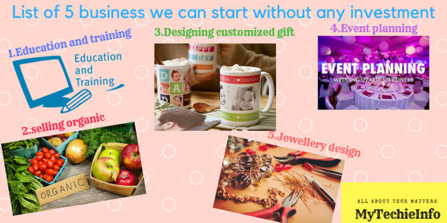 List of 5 business we can start without any investment