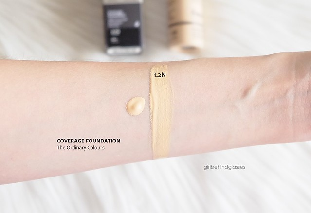The Ordinary Colours Coverage Foundation 1.2N swatch