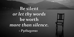 ?Be silent or let the words be worth more than silence.? - Pythagoras http://ift.tt/2hX0LMu