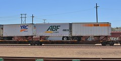 YRC, ABF and Yellow 28ft trailers on a BNSF Intermodal