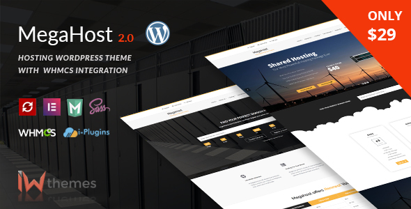 Megahost v2.0 – Hosting WordPress Theme with WHMCS