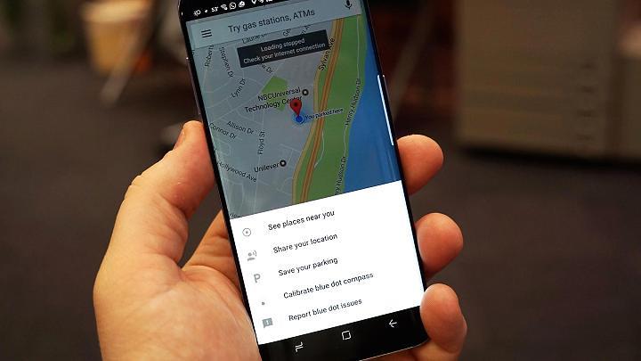 Google map parking location