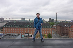 Alex on roof of abandoned post office