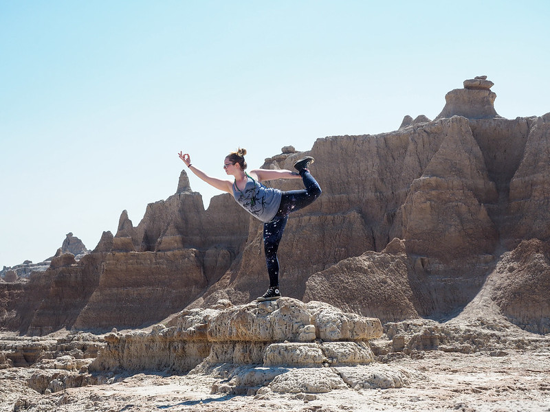 Yoga in Badlands National Park