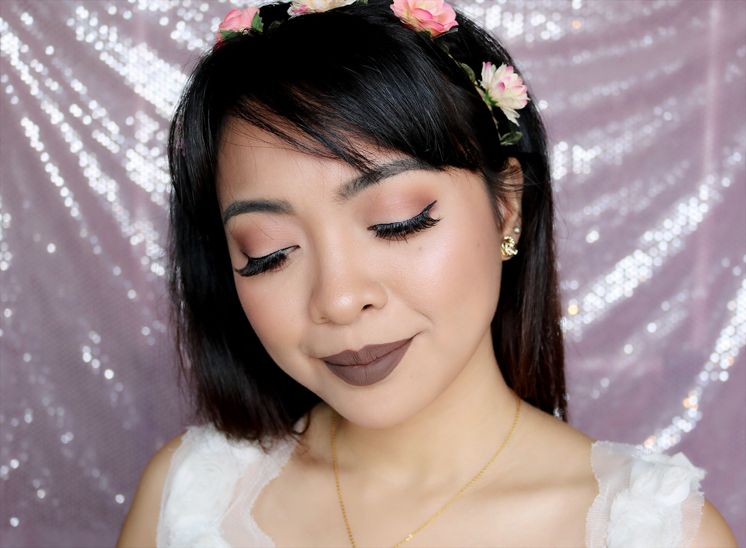5 Cathy Doll Nude Me Liquid Lip Matte Review Swatches - True Brown - Gen-zel She Sings Beauty