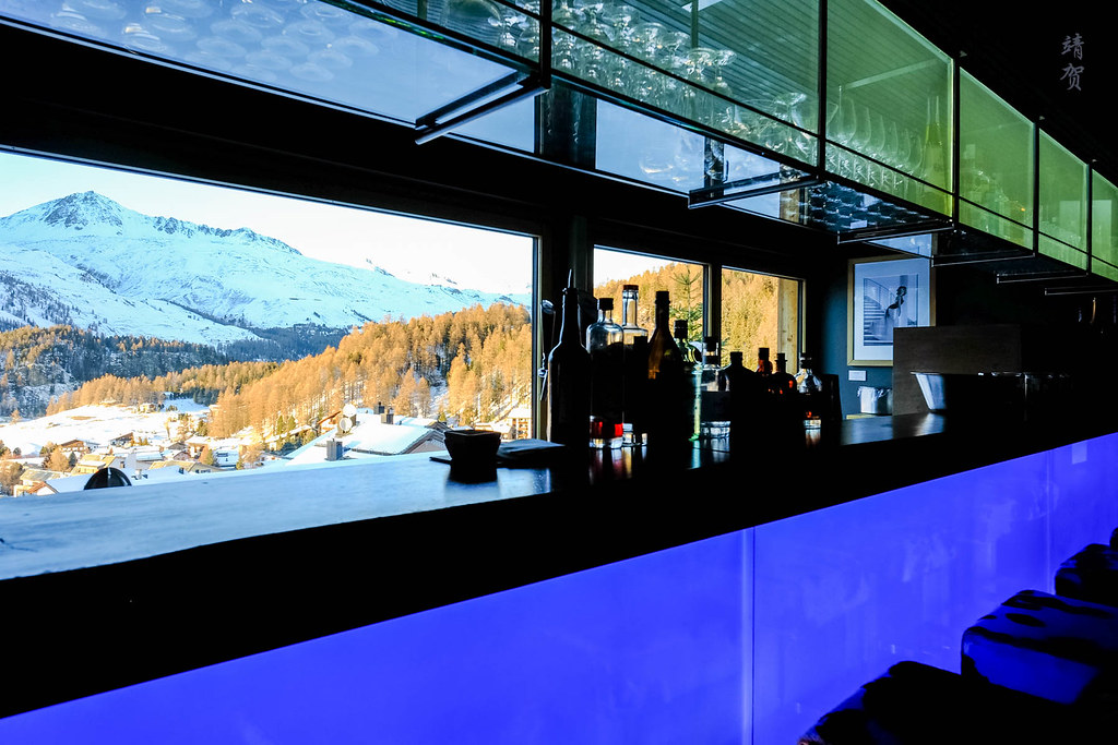 Bar counter with a view