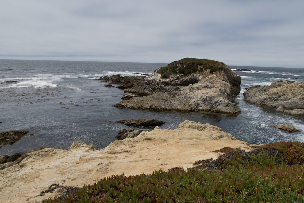 Driving along 17 Mile Drive and the coastal views