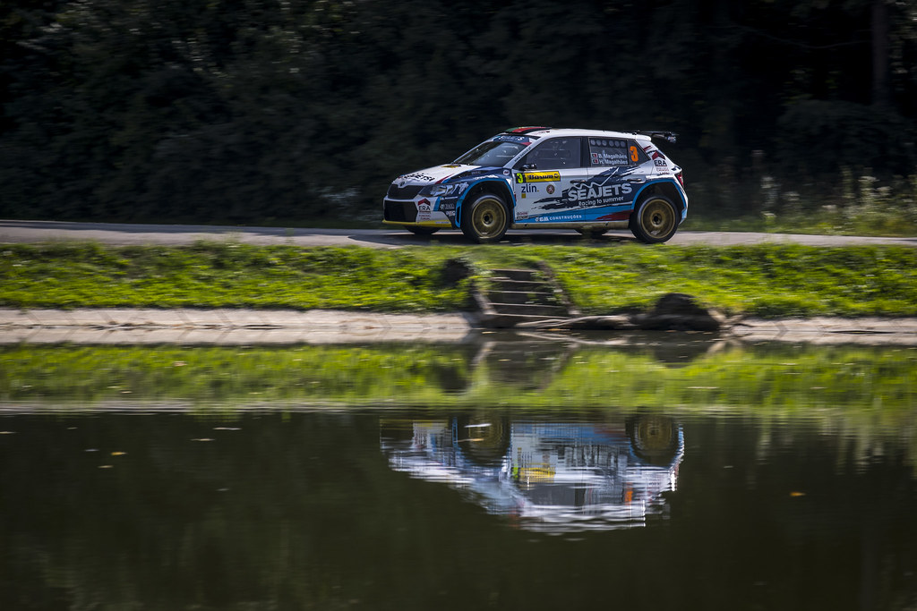 03 MAGALHAES Bruno (PRT)  MAGALHAES Hugo (PRT) Skoda Fabia R5 action during the 2017 European Rally Championship ERC Barum rally,  from August 25 to 27, at Zlin, Czech Republic - Photo Gregory Lenormand / DPPI