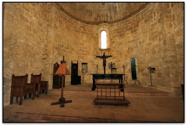 L'altar de l'església, Castell de Peníscola (Castelló, España)