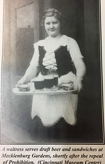 This makes me HUNGRY - A Waitress Serves Draft German Beer and Sandwiches at Mecklenberg Gardens