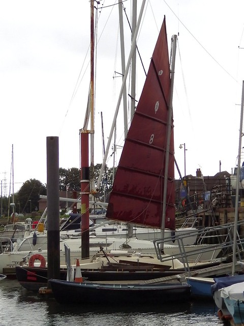 Tammy Norie showing maximum forward mast rake using the rebuilt step.
