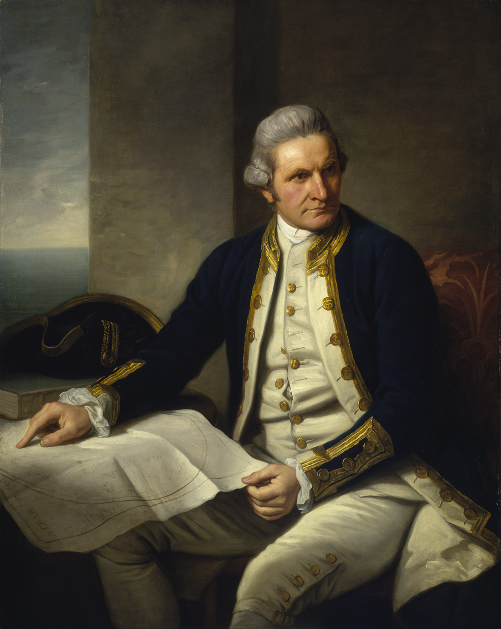 James Cook, portrait by Sir Nathaniel Dance-Holland, c.1775, National Maritime Museum, Greenwich