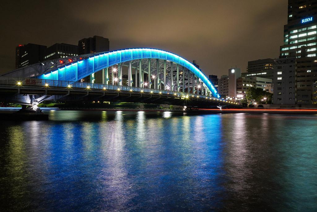 永代橋の夜景