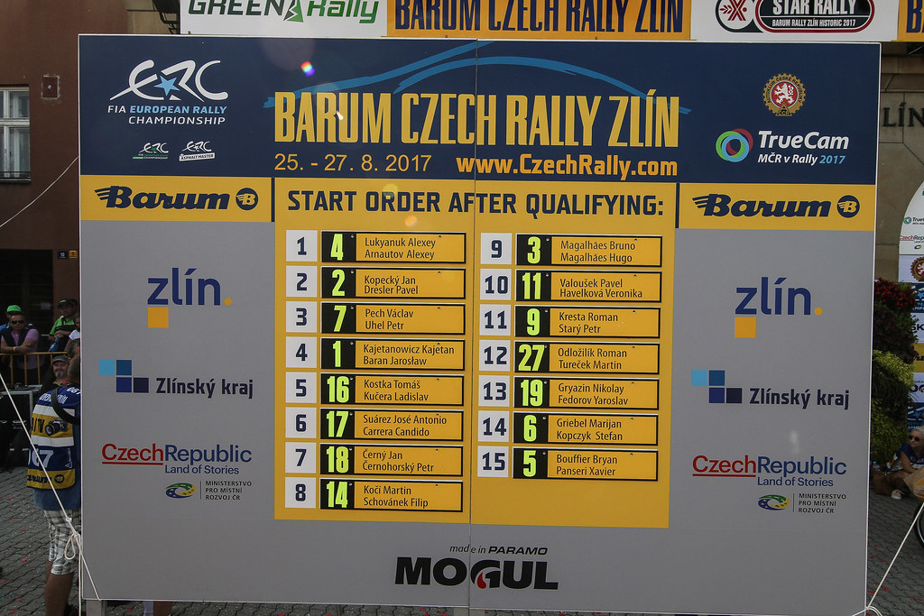 start order selection. during the 2017 European Rally Championship ERC Barum rally,  from August 25 to 27, at Zlin, Czech Republic - Photo Jorge Cunha / DPPI