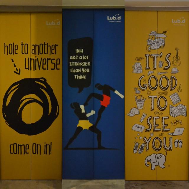 lub d phuket patong elevator doors
