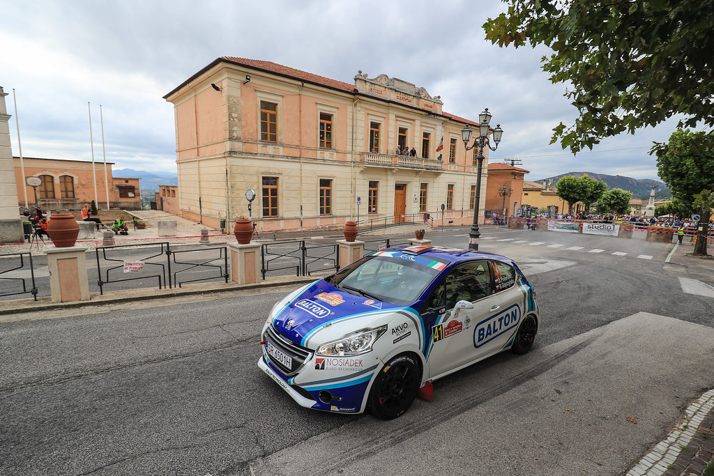 41 POLONSKI Dariusz (POL) GRYCZYNSKA Balbina  (POL)  Peugeot 208 R2 action during the 2017 European Rally Championship ERC Rally di Roma Capitale,  from september 15 to 17 , at Fiuggi, Italia - Photo Jorge Cunha / DPPI