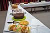 Eine der Hauptattraktionen war das Tortenbuffet. Die selbstgebackenen Torten wurden gespendet