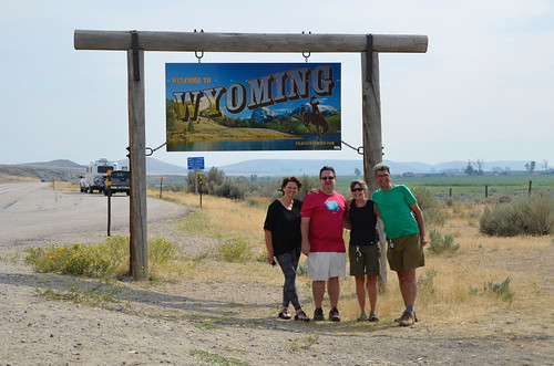 Wyoming border with Tammie and Jim