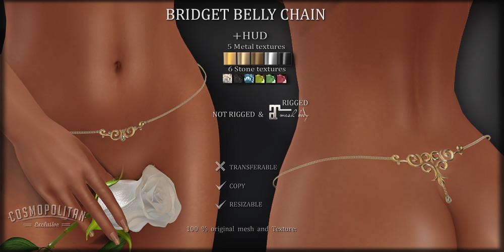 BRIDGET BELLY CHAIN (rigged for Maitreya & unrigged)