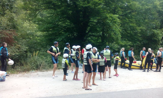 Fast rafting tour