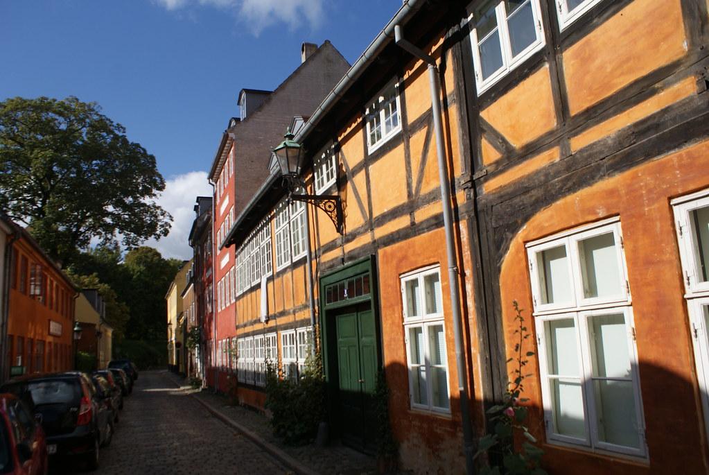 Maison à colombage dans le quartier de Christianshavn à Copenhague.