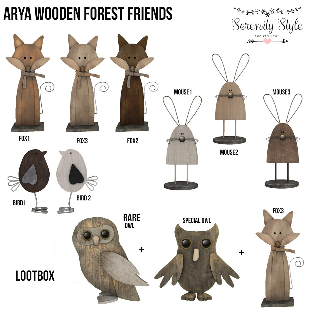 Serenity Style-Arya Wooden Forest Friends