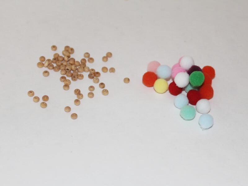 beads and pom poms