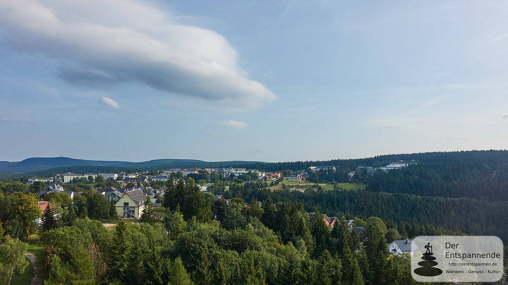 Ausblick auf Oberhof vom TREFF Hotel Panorama Oberhof