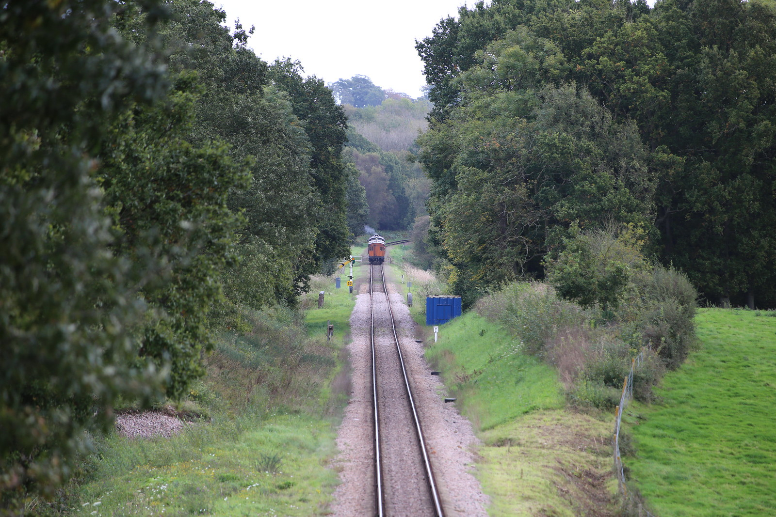 Distant Camelot steam train