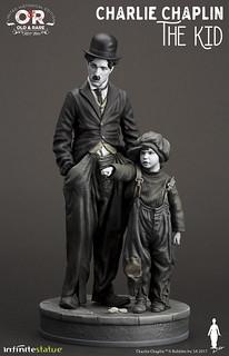 笑中帶淚的溫暖喜劇!!Infinite Statue 查理·卓別林【孤兒流浪記】Charlie Chaplin The Kid 全身雕像作品
