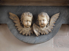two sad cherubs