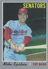 1970 Topps - Mike Epstein #235 (First Base) - Autographed Baseball Card (Washington Senators)
