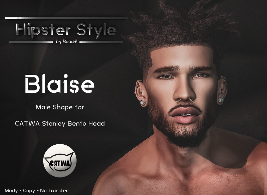[Hipster Style] Blaise Male Shape for CATWA Stanley Bento Head - SecondLifeHub.com