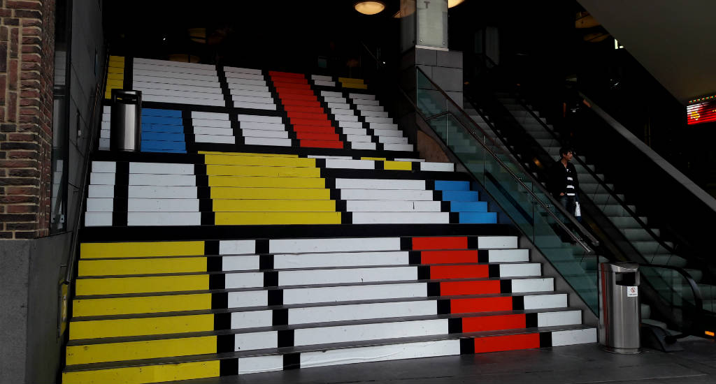 Street art inspired by De Stijl. The Hague, The Netherlands | Your Dutch Guide