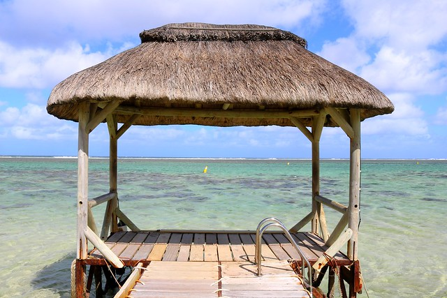 A pontoon on the Indian Ocean - Mauritius
