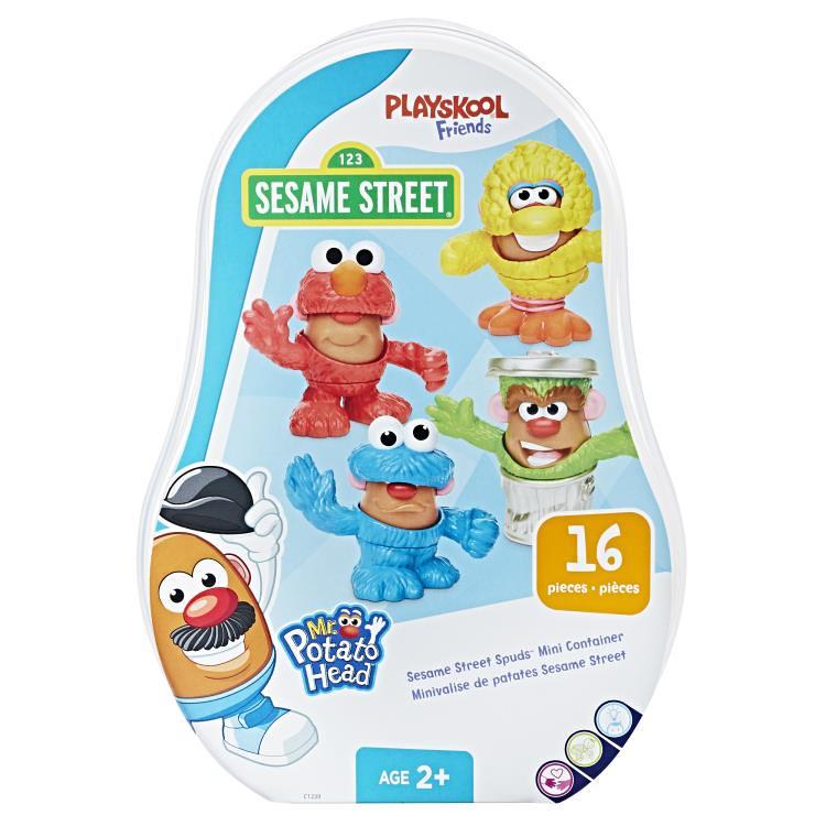 可惡~~餅乾怪獸被惡整了?!Mr. Potato Head【蛋頭先生 × 芝麻街】Sesame Street Spuds™ Mini Container