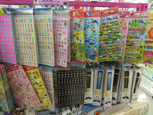 Cute stickers at Daiso