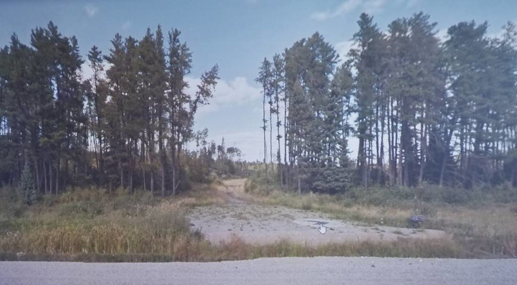 Road to the clear cut. #ridingthroughwalls #xcanadabikeride #googlestreetview #ontario