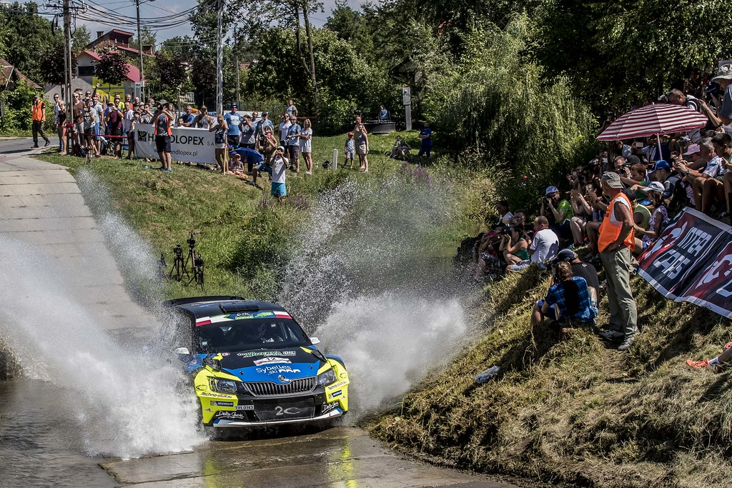 12 MICHEL Sylvain (FRA) DEGOUT jerome (FRA) Skoda Fabia R5 action during the 2017 European Rally Championship Rally Rzeszowski in Poland from August 4 to 6 - Photo Gregory Lenormand / DPPI