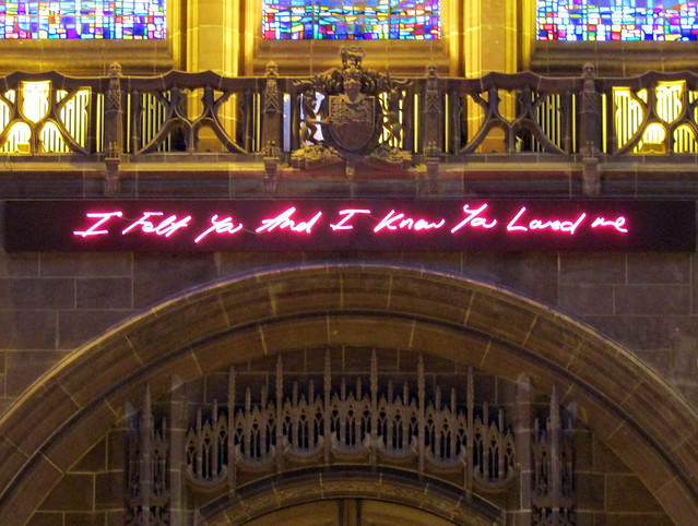 For You by Tracey Emin, Liverpool Cathedral 2017