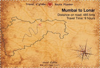 Map from Mumbai to Lonar