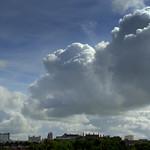 Preston skyline with clouds