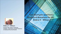 Four Examples and Some Rhetorical Questions for MI5 - Debra V.  Wilson